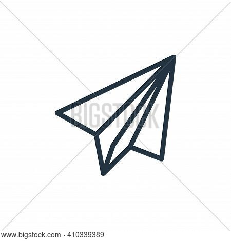 plane icon isolated on white background from contact collection. plane icon thin line outline linear