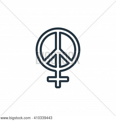 peace icon isolated on white background from womens day collection. peace icon thin line outline lin