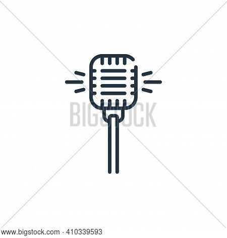 microphone icon isolated on white background from fame collection. microphone icon thin line outline