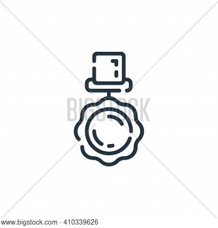 medal icon isolated on white background from startup collection. medal icon thin line outline linear