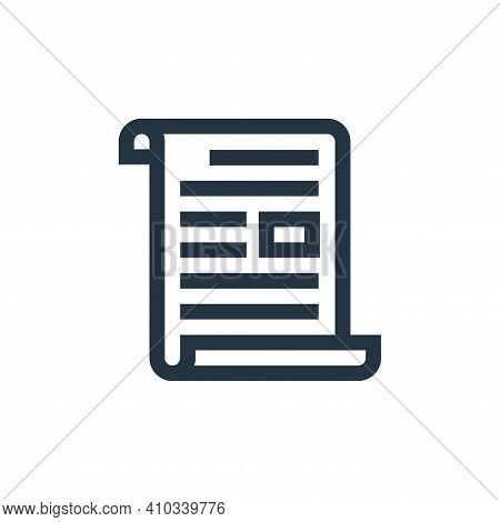 letter icon isolated on white background from advertisement collection. letter icon thin line outlin