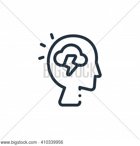 head icon isolated on white background from design thinking collection. head icon thin line outline