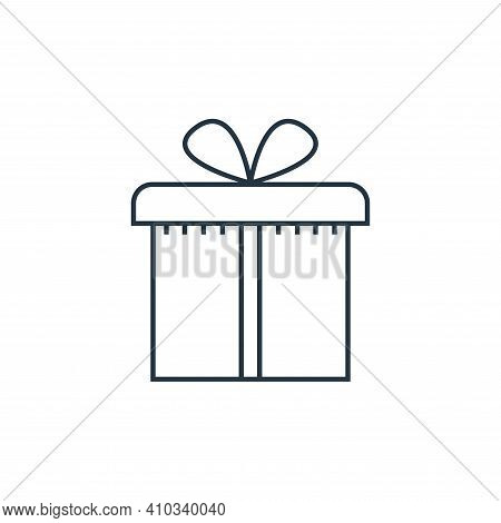 gift box icon isolated on white background from online shopping collection. gift box icon thin line