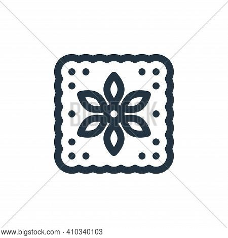 flower icon isolated on white background from cinco de mayo collection. flower icon thin line outlin