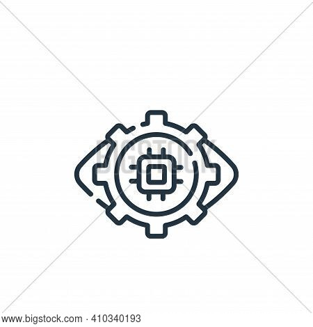 eye icon isolated on white background from robotics collection. eye icon thin line outline linear ey