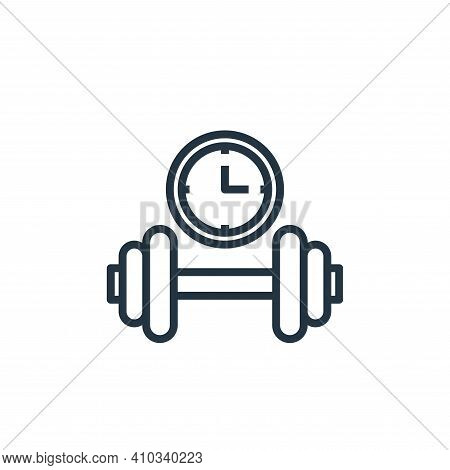dumbbell icon isolated on white background from hotel collection. dumbbell icon thin line outline li