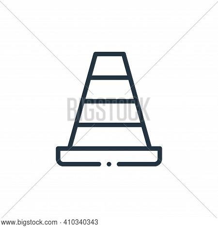 cone icon isolated on white background from plastic products collection. cone icon thin line outline