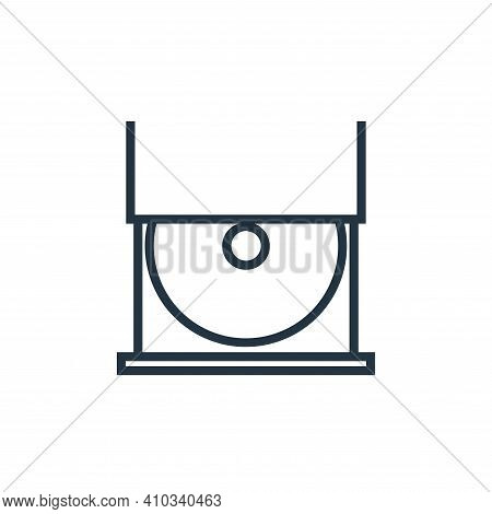 cd player icon isolated on white background from hardware collection. cd player icon thin line outli