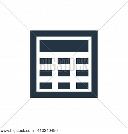 calculator icon isolated on white background from user interface collection. calculator icon thin li