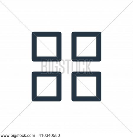 apps icon isolated on white background from user interface collection. apps icon thin line outline l