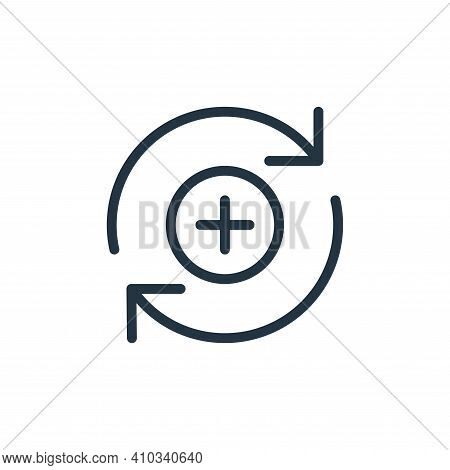 add icon isolated on white background from data transfer collection. add icon thin line outline line