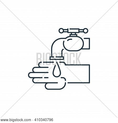 wash icon isolated on white background from virus transmission collection. wash icon thin line outli