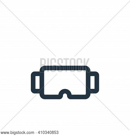 virtual reality glasses icon isolated on white background from electronic and device collection. vir