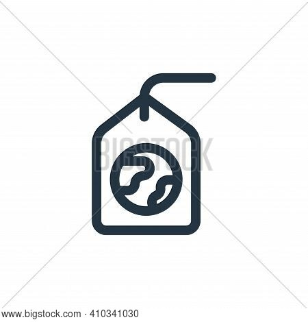 tag icon isolated on white background from mother earth day collection. tag icon thin line outline l