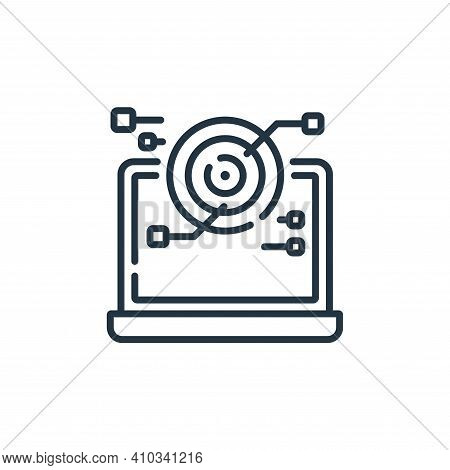 scan icon isolated on white background from robotics collection. scan icon thin line outline linear