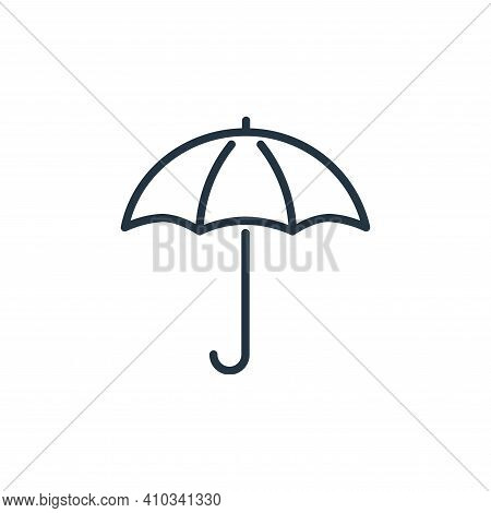 protection icon isolated on white background from insurance collection. protection icon thin line ou