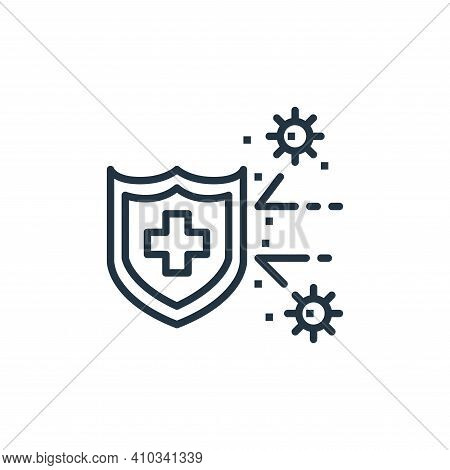 protection icon isolated on white background from coronavirus collection. protection icon thin line
