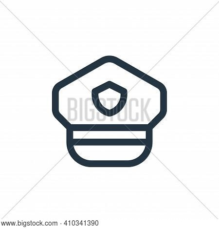 police hat icon isolated on white background from emergencies collection. police hat icon thin line