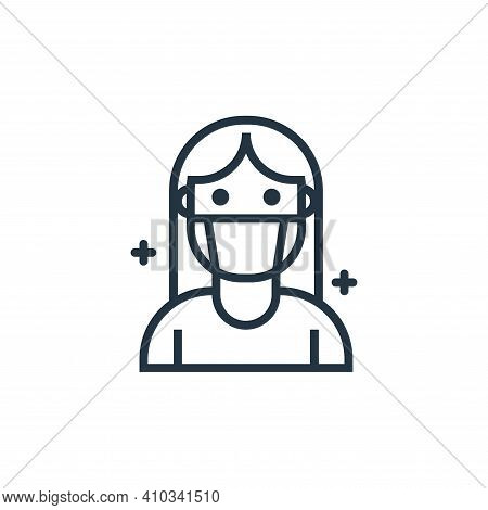 patients icon isolated on white background from pandemic collection. patients icon thin line outline