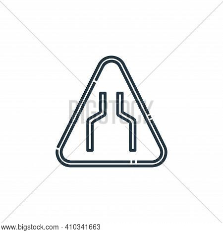 narrow icon isolated on white background from signaling collection. narrow icon thin line outline li