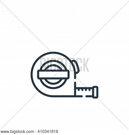 measuring tape icon isolated on white background from sewing collection. measuring tape icon thin li