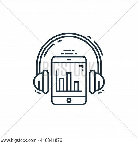 listening icon isolated on white background from environment and eco collection. listening icon thin