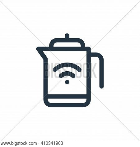 kettle icon isolated on white background from internet of things collection. kettle icon thin line o