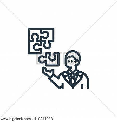 Jigsaw icon isolated on white background from branding collection. Jigsaw icon thin line outline lin