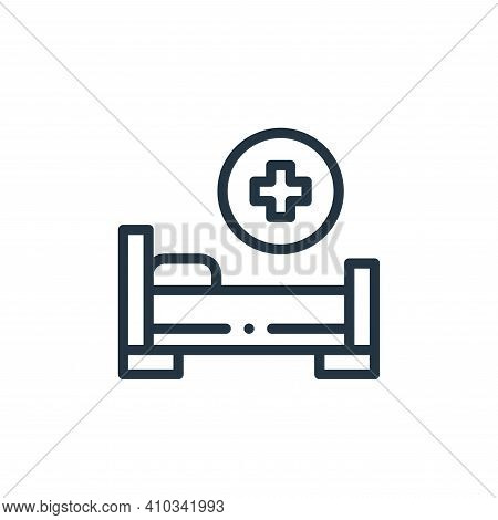 hospital bed icon isolated on white background from medicine collection. hospital bed icon thin line
