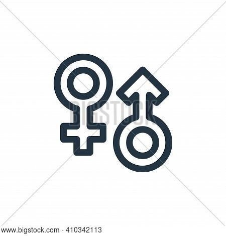 gender icon isolated on white background from medical tools collection. gender icon thin line outlin