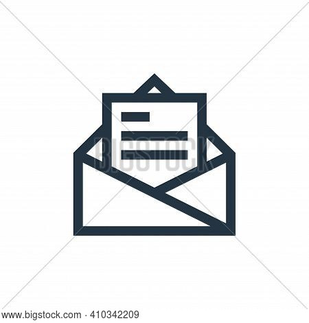 email icon isolated on white background from job resume collection. email icon thin line outline lin