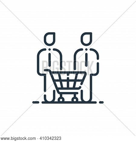 customers icon isolated on white background from startup collection. customers icon thin line outlin
