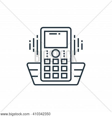 cordless phone icon isolated on white background from technology devices collection. cordless phone