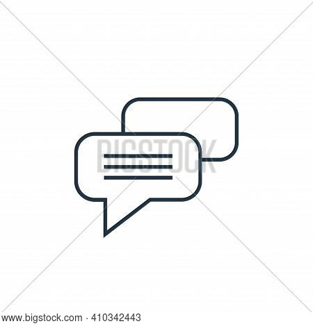 chat icon isolated on white background from user interface collection. chat icon thin line outline l