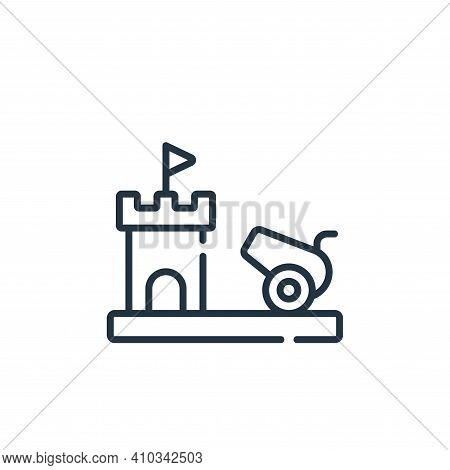 cannon icon isolated on white background from videogame collection. cannon icon thin line outline li