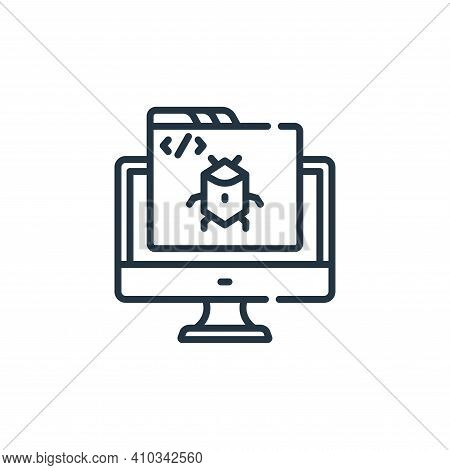 bug icon isolated on white background from web development collection. bug icon thin line outline li
