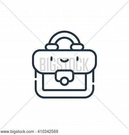 briefcase icon isolated on white background from labour day collection. briefcase icon thin line out