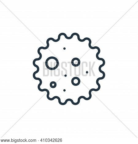 bacteria icon isolated on white background from covid collection. bacteria icon thin line outline li