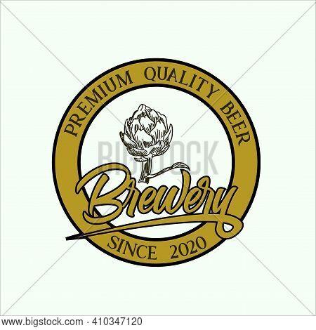 Brewery Logo Illustration Vector. Brewery Emblem Design Vector