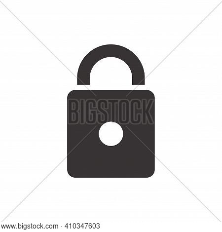 Lock Icon Vector. Lock Icon Isolated On White Background. Lock Icon Simple And Modern. Lock Icon Vec