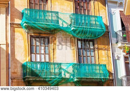 Restoration Of Old Residential House With Balcony