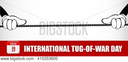 Card For Event February Day International Tug-of-war Day