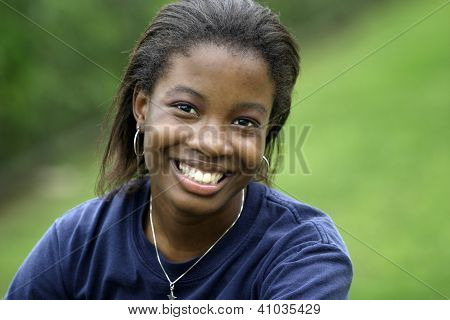Portrait of smiling African-American girl