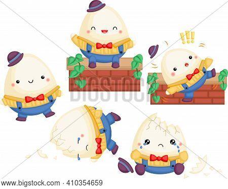 A Vector Of Humpty Dumpty Nursery Ryhmes