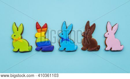 Diversity Freedom. Lgbt Pride. Solidarity Equality. Bakery Food Ornament. Colorful Chocolate Gingerb