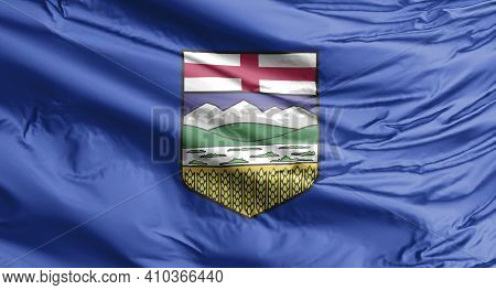 An Alberta Waving Flag, A Canadian Province.