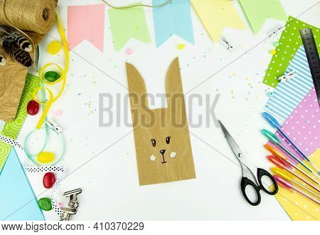Diy And Kids Creativity. Step By Step Instructions: How To Make An Easter Bunny Packaging From A Cra