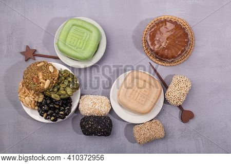 Korean Holiday Food, Korean Traditional Sweets And Snacks.