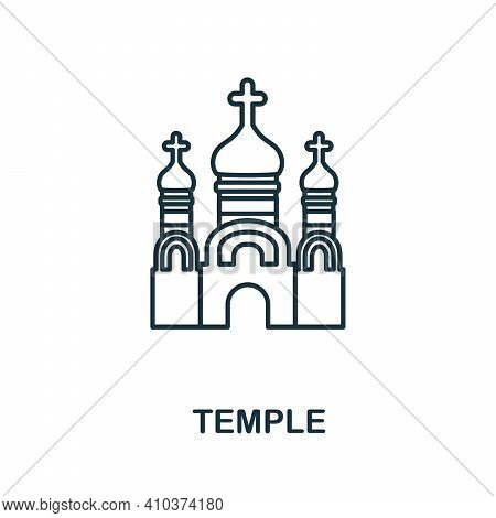 Temple Icon. Simple Element From Religion Collection. Creative Temple Icon For Web Design, Templates