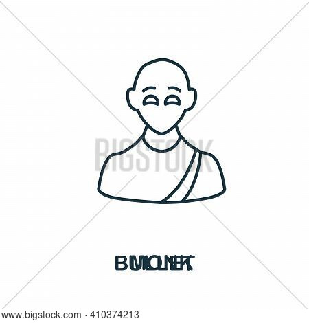 Monk Icon. Simple Element From Religion Collection. Creative Monk Icon For Web Design, Templates, In